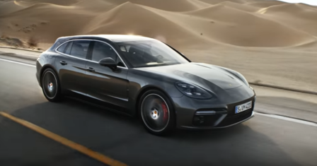 The new Panamera Sport Turismo in motion.
